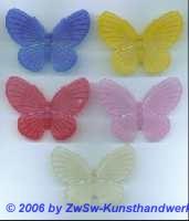 Schmetterling aus Acrylglas gelb/mattiert