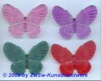 Schmetterling aus Acrylglas pink/durchscheinend