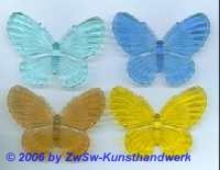 Schmetterling aus Acrylglas hellblau/durchscheinend