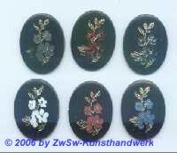 Bilderstein Acrylglas mit Blume in grau