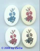 Bilderstein Acrylglas mit Blume in blau