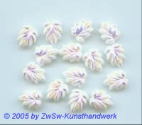 Strasssteine in Blattform 1 Stück, 13mm x 10mm (weiß/AB)