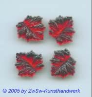 Strassstein in Blattform 1 Stück, 15mm x 15mm (rubin)