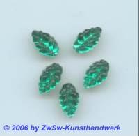 Strasssteine in Blattform 1 Stück, 10mm x 6mm (smaragd)