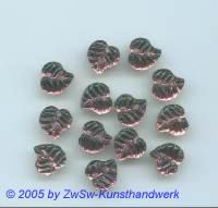 Strassstein in Blattform 1 Stück, 9mm x 9mm (amethyst)