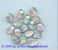 Muschelstrassstein 1 Stück, 13mm x 10mm (kristall/AB)