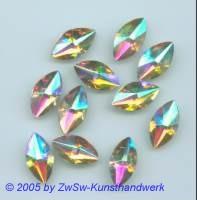 Spitzoval 1 Stück, 18mm x 10mm (kristall/AB)
