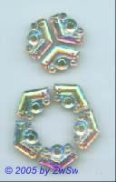 Ornamentstein 1 Stück, 20mm x 13mm