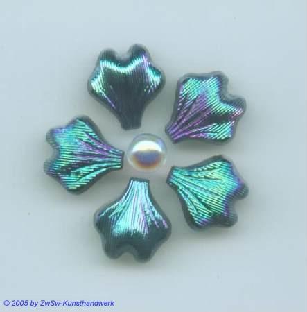 Strasssteine in Blattform 1 Stück, 14mm x 13mm (scarabee)