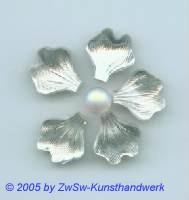 Strassstein in Blattform 1 Stück, 14mm x 13mm (kristall)