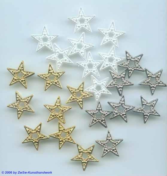 Besatzartikel goldene Sterne (10 Stück)