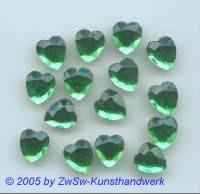 1 Strassherz 10mm x 9mm (smaragd)