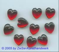 1 Muggelherz 13mm x 11mm (rubin)