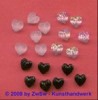 1 Herzperle 10mm x 10mm (kristall/gefrostet)