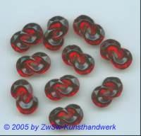 Doppelter Halbmond (rubin), 18mm x 11mm, 1 Stück