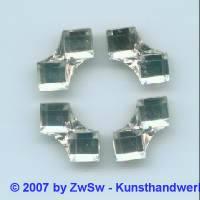 Strassstein, Doppelquadrat 1 Stück, 7mm (kristall)