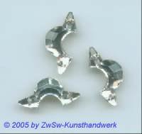 Zierstein 1 Stück, 22mm x 11mm (kristall)