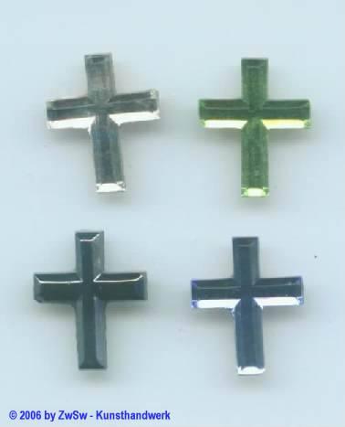Kreuz 1 Stück, 17mm x 14mm (schwarz/AB)