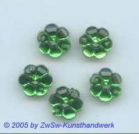 Strass/Blütenform 1 Stück, Ø 13mm (smaragd)