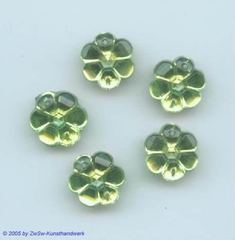 Strass/Blütenform 1 Stück, Ø 13mm (peridot)