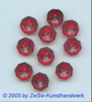 Strassknopf 1 Stück, Ø 13mm (rubin)