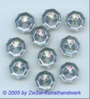 Strassknopf 1 Stück, Ø 13mm hellblau