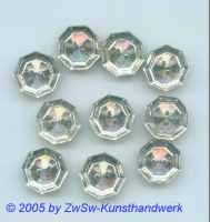 Strassknopf 1 Stück, Ø 13mm kristall