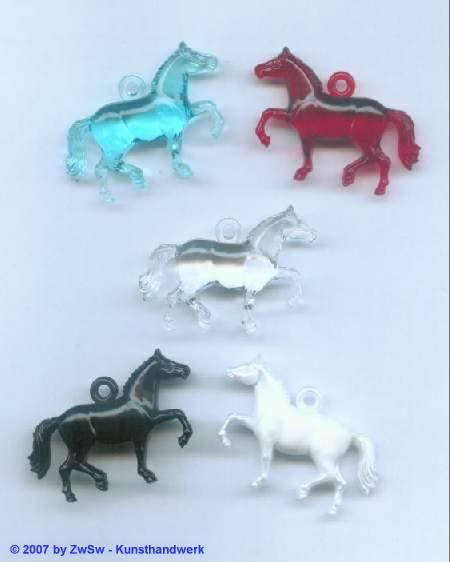 Pferdchen aus Acryl, aquamarine 1 Stück