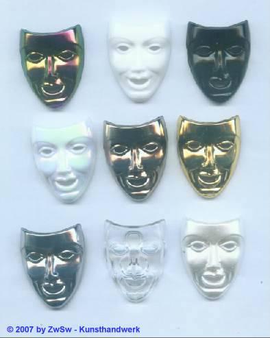 1 Theatermaske in schwarz/ AB