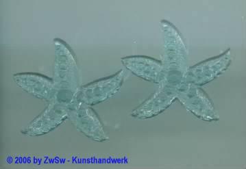 Seestern aquamarine 1 Stück, ca. Ø 25mm