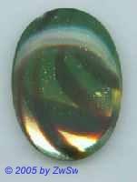 1 Solitärstein 40mm x 30mm (kristall/grün) verspiegelt