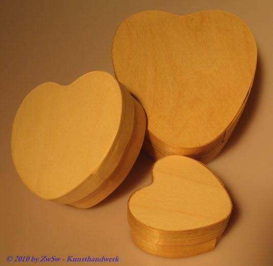 Spanschachtel Herz unbehandelt, 60mm