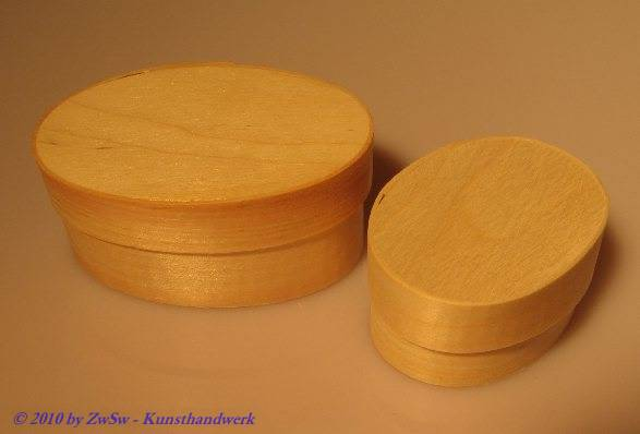 Spanschachtel oval, unbehandelt, 55mm x 40mm