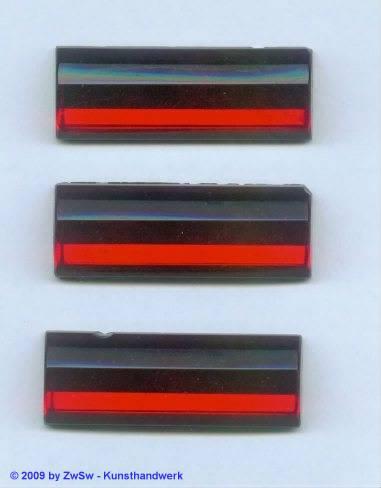 1 Solitairstein rubin, 45mm x 16mm