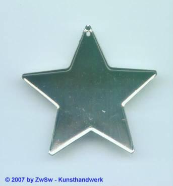 1 Stern flach verspiegelt, ca. Ø 45mm