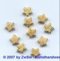 10 Sternchenperlen metallisiert