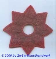 Türkranzstern, rot, Ø 11cm