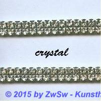 Strassband zweireihig in kristall 50cm