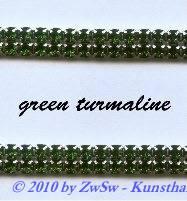 Strassband zweireihig in moosgrün, 50cm