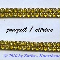 Strassband zweireihig in gelb, 50cm