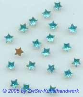 1 Strass/Sternchenform (hellblau), Ø 5,5mm