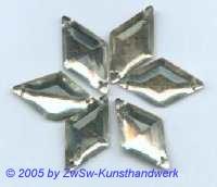 1 Strass/Rautenform 18mm x 10mm (kristall)