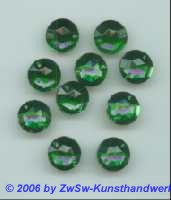 Strassstein 1 Stück, Ø 7mm  (grün)