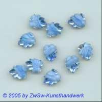 Strasssteine in Blattform 13mm x 10mm (blau/weiß) 1 Stück