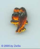 1 Strassstein Vogelpaar (dunkelgelb)