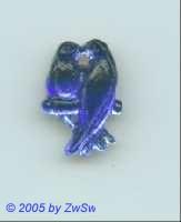 1 Strassstein Vogelpaar (blau)