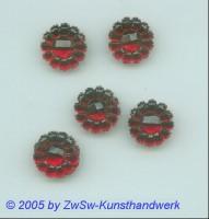 1 Strassstein in Form einer Blüte, Ø 13mm (rot)