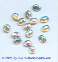 Strassstein 1 Stück, 8mm x 6mm (kristall/AB)