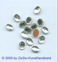 1 Strassstein 8mm x 6mm (kristall)