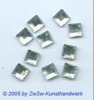 Strassstein 1 Stück, 4mm x 4mm (kristall) hot fix